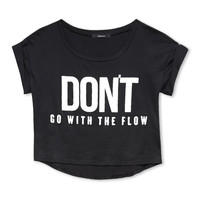 Flow With It Cropped Tee