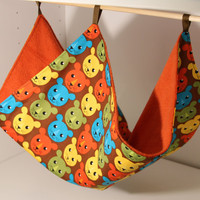 Hanging Ferret Hammock Rat Cage Accessories Chinchilla Supplies Guinea Pig Cozy Snuggle Bed Small Pet Blanket Bear Lion Cotton Fabric Fleece