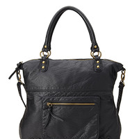 FOREVER 21 Textured Faux Leather Carryall