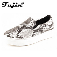 2016 Rushed Limited Pu Size 34-40 Women Shoes Platform Casual Snake Woman's Slip On Casual Shoe Autumn Leisure