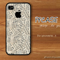 The New Life style with music Vintage : Handmade Case for Iphone 4/4s , Iphone 5