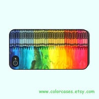 iphone 4 case,iphone 5 case--Crayon, in hard plastic  black or white or clear, iphone 4 case still availble in silicone