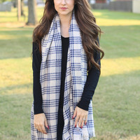 Checked Plaid Scarf