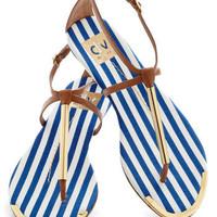 A Yacht to Talk About Sandal in Mast | Mod Retro Vintage Sandals | ModCloth.com