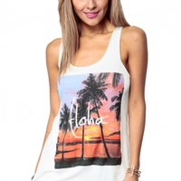Hawaiian Getaway Tank @ Cicihot Top Shirt Clothing Online Store: Dress Shirt,Sexy Womens Shirt,T Shirts,Corset Dress,White T Shirt,Girl T Shirt,Short sleeve top