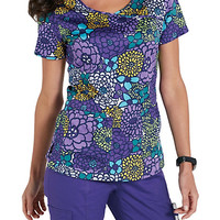 Beyond Scrubs In Bloom Crossover Print Scrub Tops | Scrubs & Beyond