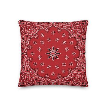 Bandana Pattern Premium Pillow