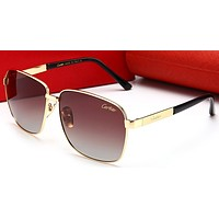 Cartier Women Trending Popular Summer Sun Shades Eyeglasses Glasses Sunglasses Golden/Tea G-HWYMSH-YJ