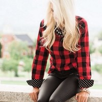 Fool For You Plaid Blouse