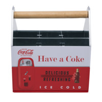 Authentic Coca Cola Coke Tin Utensil Caddy New