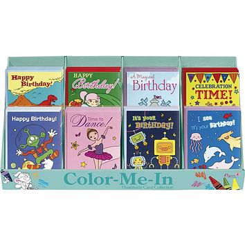 PaperCraft Color Me In Birthday Cards