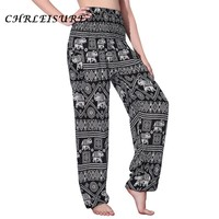 CHRLEISURE Women Harem Pants 2017 Bohemian Elephant High Waist Pants Fashion Boho Printed Pantalon Femme Trousers Women S-XL