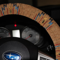 Tribal Steering Wheel Cover- Aztec Wheel Cover- Accessories- Car accessories.Hostess Gift Idea .