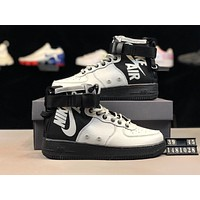 Nike SF Air Force 1 Mid 2019 new style brand men's high-top zipper strap shoes