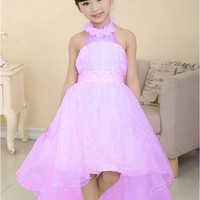 Baby Girls Party Dress Evening Wear Long Tail Girls Clothes Elegant Flower Girl Dress Kids Baby Dresses