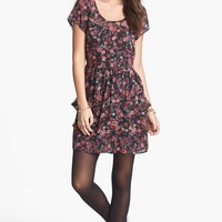 Band of Gypsies Woven Babydoll Dress (Juniors) | Nordstrom