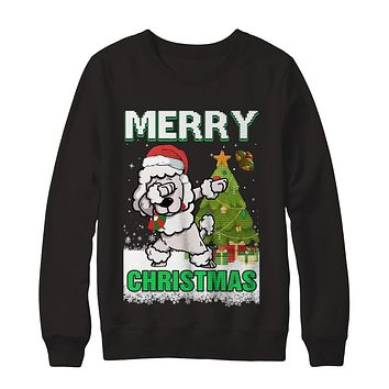 Cute Poodle Claus Merry Christmas Ugly Sweater