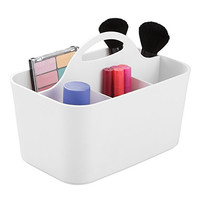 mDesign Cosmetic Vanity Organizer Caddy, Storage for Beauty Makeup, Hair Accessories, Nail Polish - White