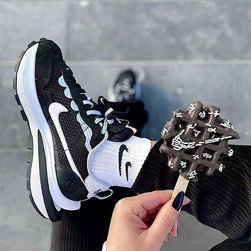 Nike Vapor Waffle Joint name deconstruction of black white grey red running shoes