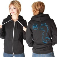 Rar Monster American Apparel Hoodie by rainbowswirlz on Etsy