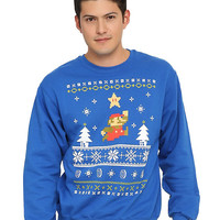 Super Mario Bros. Mario Holiday Sweater Sweatshirt
