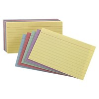 "Oxford® 4"" x 6"" Ruled Index Cards - Blue/Violet/Canary/Green/Cherry (100 Pack)"