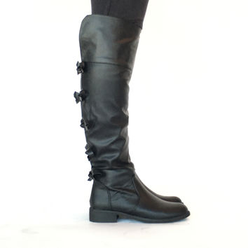 Wrapped Up In Bows Boots In Black