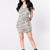 Deal With It Dress - Camo