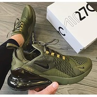 NIKE AIR MAX 270 Tide brand men's and women's air cushion casual shoes Green