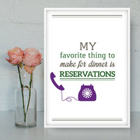 Cooking printable poster, Kitchen poster, Wall Art, Funny quotes, Kitchen print, Cooking art, Dinner quotes, INSTANT DOWNLOAD