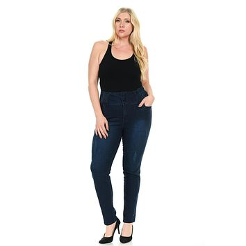 Pasion Women's Jeans - Plus Size - High Waist - Push Up - Skinny - Style A5140