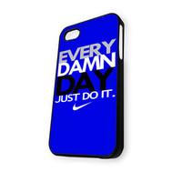 Blue EVERY DAMN DAY iPhone 5/5S Case