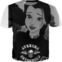 Beauty And The Beast Belle Avenged Sevenfold T-shirt