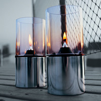 1005 oil lamp with clear shade by Erik Magnussen for Stelton Denmark