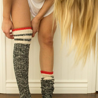 Voyager Thigh High Socks - Red – Joah Brown