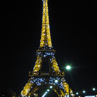 Paris at Night Art Print by Cathy Jacobs