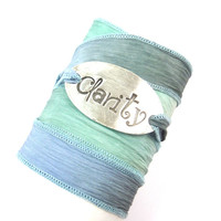 Silk Wrap Bracelet with Clarity