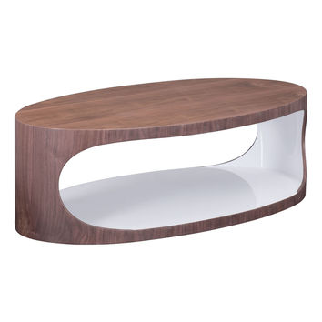 Triton Coffee Table Walnut & White