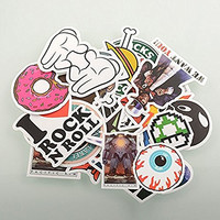 Pack of 100 Stickers Skateboard Snowboard Vintage Vinyl Sticker Graffiti Laptop Luggage Car Bike Bicycle Decals Mix Style