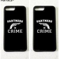 BFF partner in crime best friends forever mobile phone cases for iPhone 5s se 6 6s plus 7 7plus 8 8plus X XR XS MAX cover case