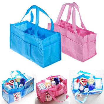 Choice of Pink or Blue Mommy Bags. Multipurpose Storge Diaper Bags for Baby