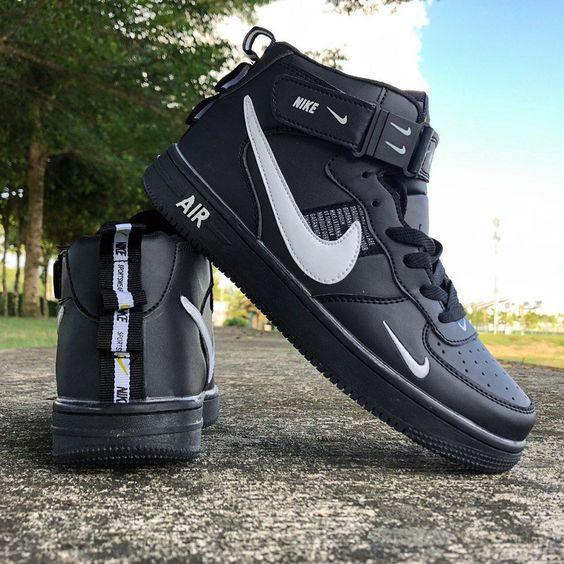 Image of Nike AF1 (Air Force One) men's and women's sneakers high-top  sneakers casual shoes
