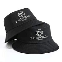 Balenciaga 2019 new letter embroidery baseball cap fisherman hat black