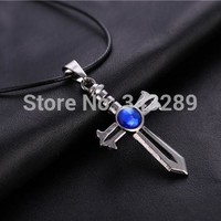 2016 New Arrival HOT anime Fairy Tail logo necklace hot crucifix  charm necklace alloy necklace personalized necklace