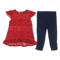 Ralph Lauren Printed Infant Girls Pant Outfit