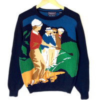 Hathaway Sand Trap Mens Tacky Ugly Golf Sweater