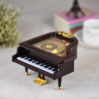 """Mechanical Wind-up Piano Musical Figure with Classical Melody """"For Alice"""""""