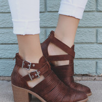 Path to My Soul Booties - Cognac