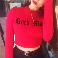 Autumn and winter new women's street loose casual short exposed navel silver silk sweater