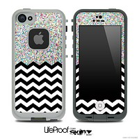 Mixed Colorful Dotted and Chevron Pattern Skin for the iPhone 5 or 4/4s LifeProof Case